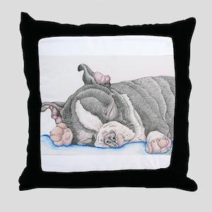 Boston Terrier Puppy Dog Throw Pillow