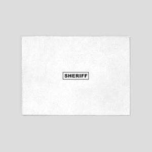 sheriff_logo 5'x7'Area Rug
