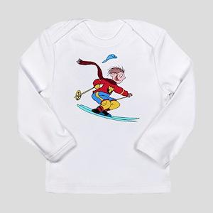 Boy Skiing Long Sleeve T-Shirt