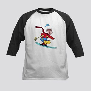 Boy Skiing Baseball Jersey