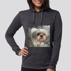small dog at cafe Long Sleeve T-Shirt