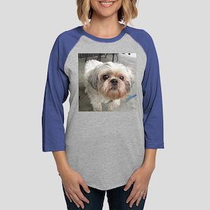 small dog at cafe Long Sleeve T-Shirt