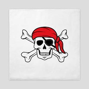Jolly Roger Pirate Queen Duvet