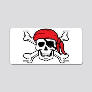 Jolly Roger Pirate Aluminum License Plate