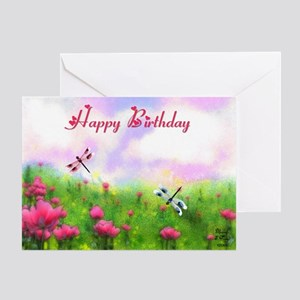 Watercolor painting greeting cards cafepress dragonfly greeting card m4hsunfo