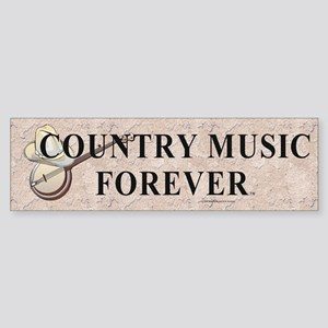 Country Music Forever Sticker (Bumper)
