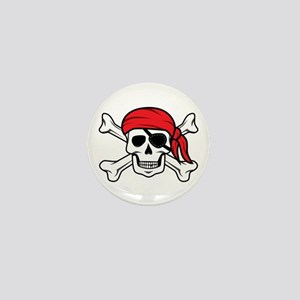 Jolly Roger Pirate Mini Button