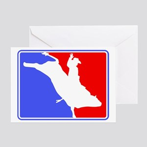 Bull Rider (Major League) 5x7 Greeting Card