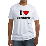 I Love Cornhole - Perspective Fitted T-Shirt