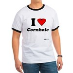 I Love Cornhole - Perspective Ringer T