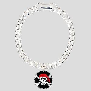 Jolly Roger Pirate (on B Charm Bracelet, One Charm
