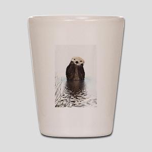 Bashful Sea Otter Shot Glass