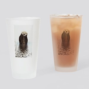 Bashful Sea Otter Drinking Glass