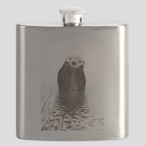 Bashful Sea Otter Flask