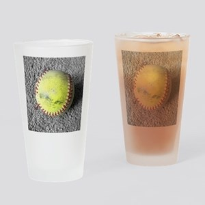 The Softball Drinking Glass