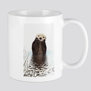 Bashful Sea Otter Mugs
