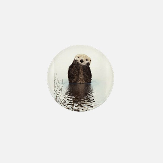Bashful Sea Otter Mini Button