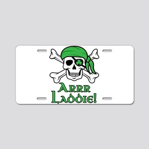 Irish Pirate - Arrr Laddie! Aluminum License Plate