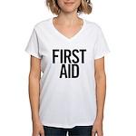 First Aid (Black) Women's V-Neck T-Shirt