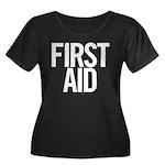 First Aid (white) Women's Plus Size Scoop Neck Dar