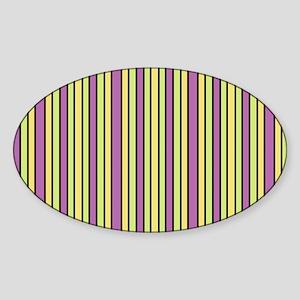 Striped Event Sticker (Oval)