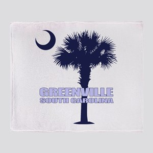 Greenville SC Throw Blanket
