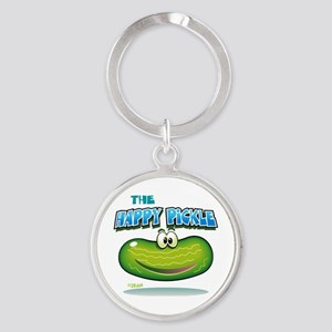 The Happy Pickle Round Keychain