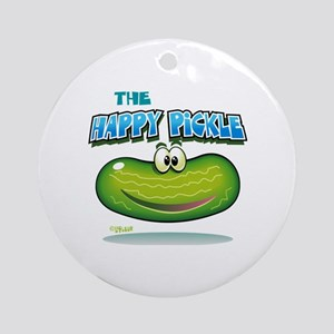 The Happy Pickle Round Ornament