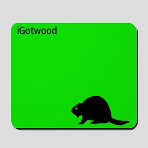 """""""iPOD LOGO"""" STYLE BEAVER Mousepad"""