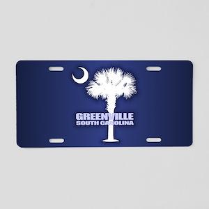 Greenville SC Aluminum License Plate