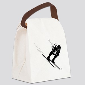 Ski Racer Canvas Lunch Bag
