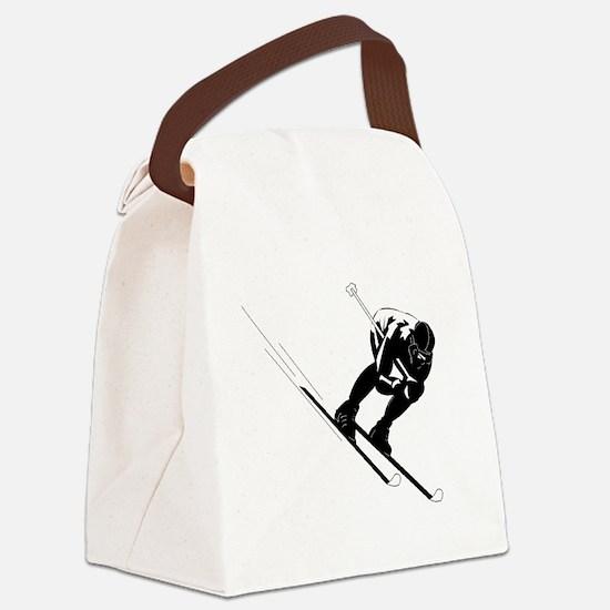 Ski Racer Canvas Lunch Bag