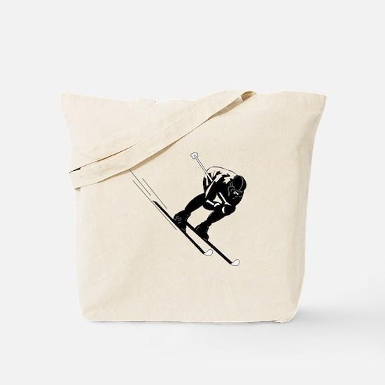 Ski Racer Tote Bag