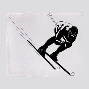 Ski Racer Throw Blanket