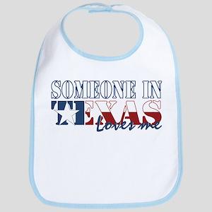 Someone in Texas Cotton Baby Bib