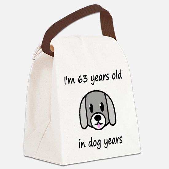 9 dog years 2 Canvas Lunch Bag