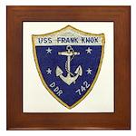 USS FRANK KNOX Framed Tile