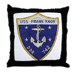 USS FRANK KNOX Throw Pillow