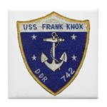 USS FRANK KNOX Tile Coaster