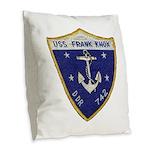 USS FRANK KNOX Burlap Throw Pillow