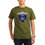 USS FRANK KNOX Organic Men's T-Shirt (dark)