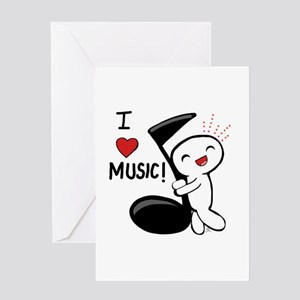 I Love Music! Greeting Cards