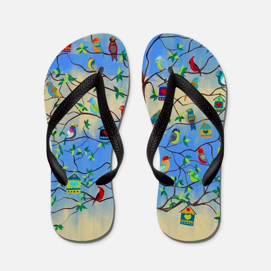 Cute Tree of life Flip Flops
