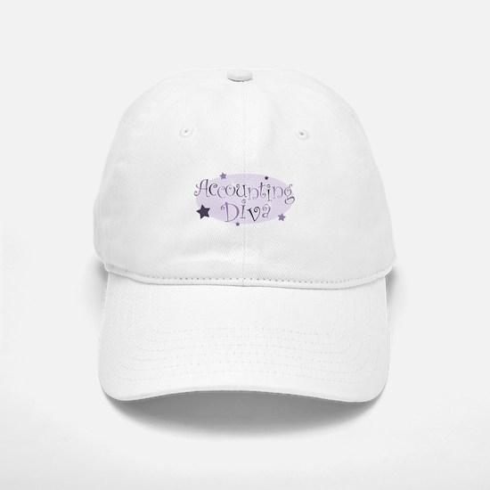 Accounting Diva [purple] Baseball Baseball Cap