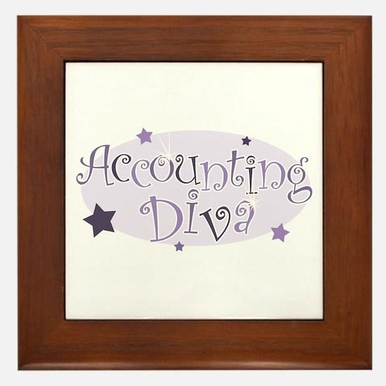 Accounting Diva [purple] Framed Tile