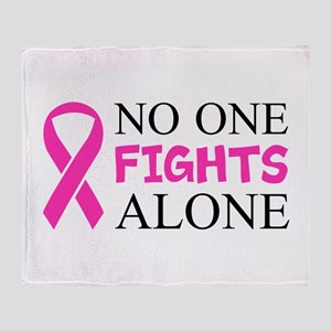 No One Fights Alone Throw Blanket