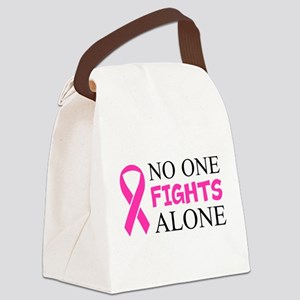 No One Fights Alone Canvas Lunch Bag