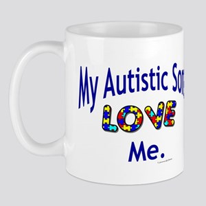 My Autistic Sons Love Me Mug