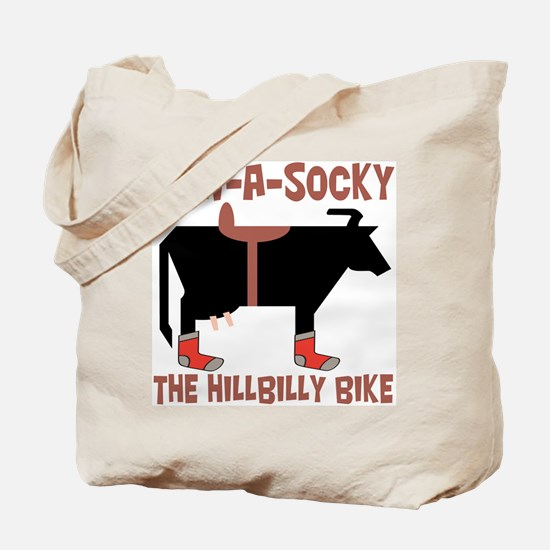 Cow A Socky Hillbilly Bike Tote Bag