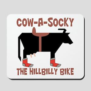 Cow A Socky Hillbilly Bike Mousepad